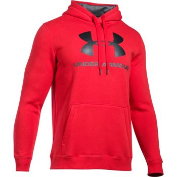 Under Armour Rival Fitted Graphic Hoodie, muški pulover, roza