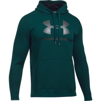 Under Armour Rival Fitted Graphic Hoodie, muški pulover, zelena