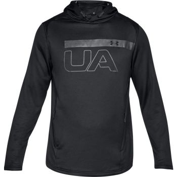 Under Armour TECH TERRY PO GRAPHIC HOODIE-BLK//ATH, muški pulover, crna