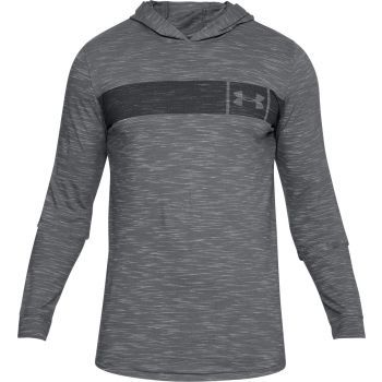 Under Armour Sportstyle Core Hoodie-gph//blk, muški pulover, siva