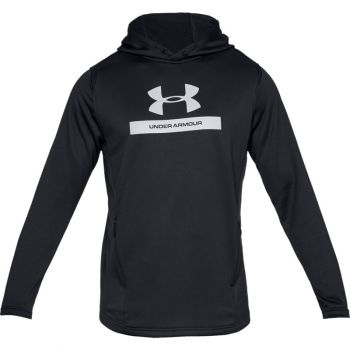 Under Armour MK1 TERRY GRAPHIC HOODIE, muški pulover, crna