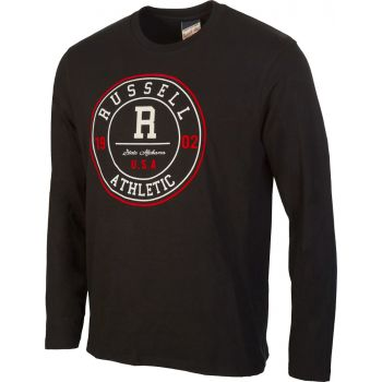 "Russell Athletic L/S CREW NECK TEE- ""R""  ROSETTE, muška majica, crna"