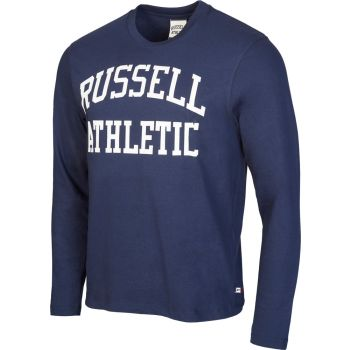 Russell Athletic L/S CREW NECK TEE WITH LOGO PRINT, muška majica, plava
