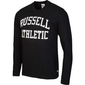 Russell Athletic L/S CREW NECK TEE WITH LOGO PRINT, muška majica, crna