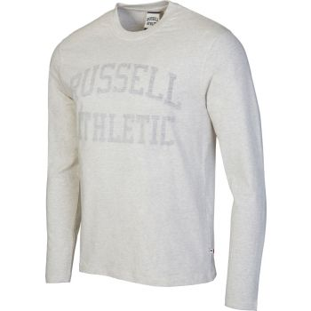 Russell Athletic L/S CREW NECK TEE WITH REVERSE PRINT, muška majica, bež