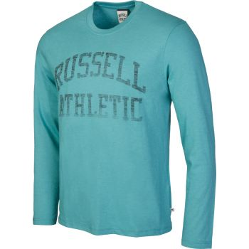 Russell Athletic L/S CREW NECK TEE WITH REVERSE PRINT, muška majica, plava