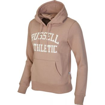 Russell Athletic PULL OVER LOGO HOODY, ženski pulover, smeđa