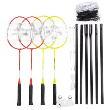 Tecnopro Speed 200/4net, set badminton, žuta