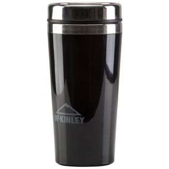McKinley STAINLESS STEEL DOUBLE TRAVEL CUP, zdjelica, crna