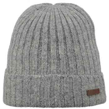 Barts HAAKON TURNUP HEATHER GREY ONE SIZE, kapa, siva
