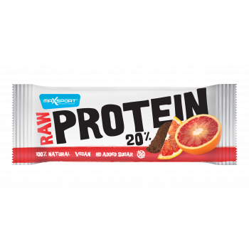 Maxsport PLOŠČICA PROTEIN/VEGAN RAW 50G BLOOD ORANGE, sportska prehrana