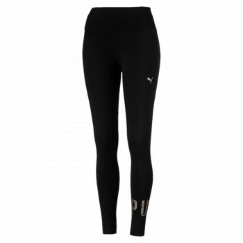Puma PUMA ATHLETIC LOGO LEGGINGS, ženske tajice, crna