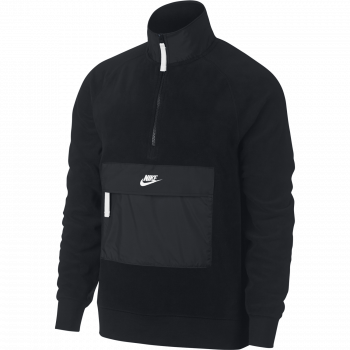 Nike M NSW TOP HZ CORE WNTR SNL, muški pulover, crna