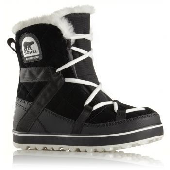Sorel GLACY EXPLORER SHORTIE, ženske cipele, crna