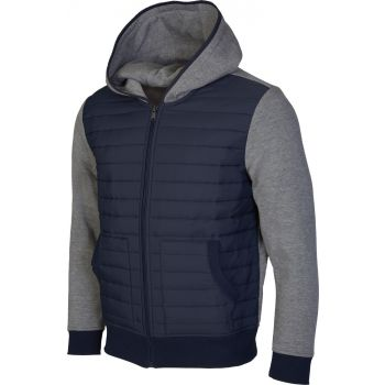 """Russell Athletic ZIP THROUGH PANELLED HOODY - """"R"""" CHENILLE EMBROIDERY, muški pulover, plava"""