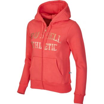 Russell Athletic ZIP THROUGH LOGO HOODY, ženska jakna, roza