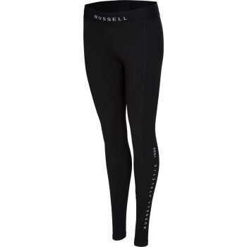 Russell Athletic LEGGING - VERTICAL PRINT DETAIL, ženske tajice, crna
