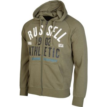 Russell Athletic ZIP THROUGH HOODY SWEAT WITH 1902 ATHLETIC PRINT, muška jakna, zelena