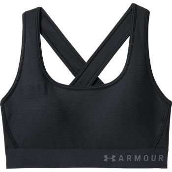 Under Armour ARMOUR MID CROSSBACK BRA, ženski sportski top, crna