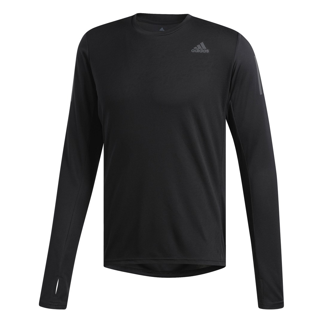 adidas OWN THE RUN LS, muška majica za trčanje, crna