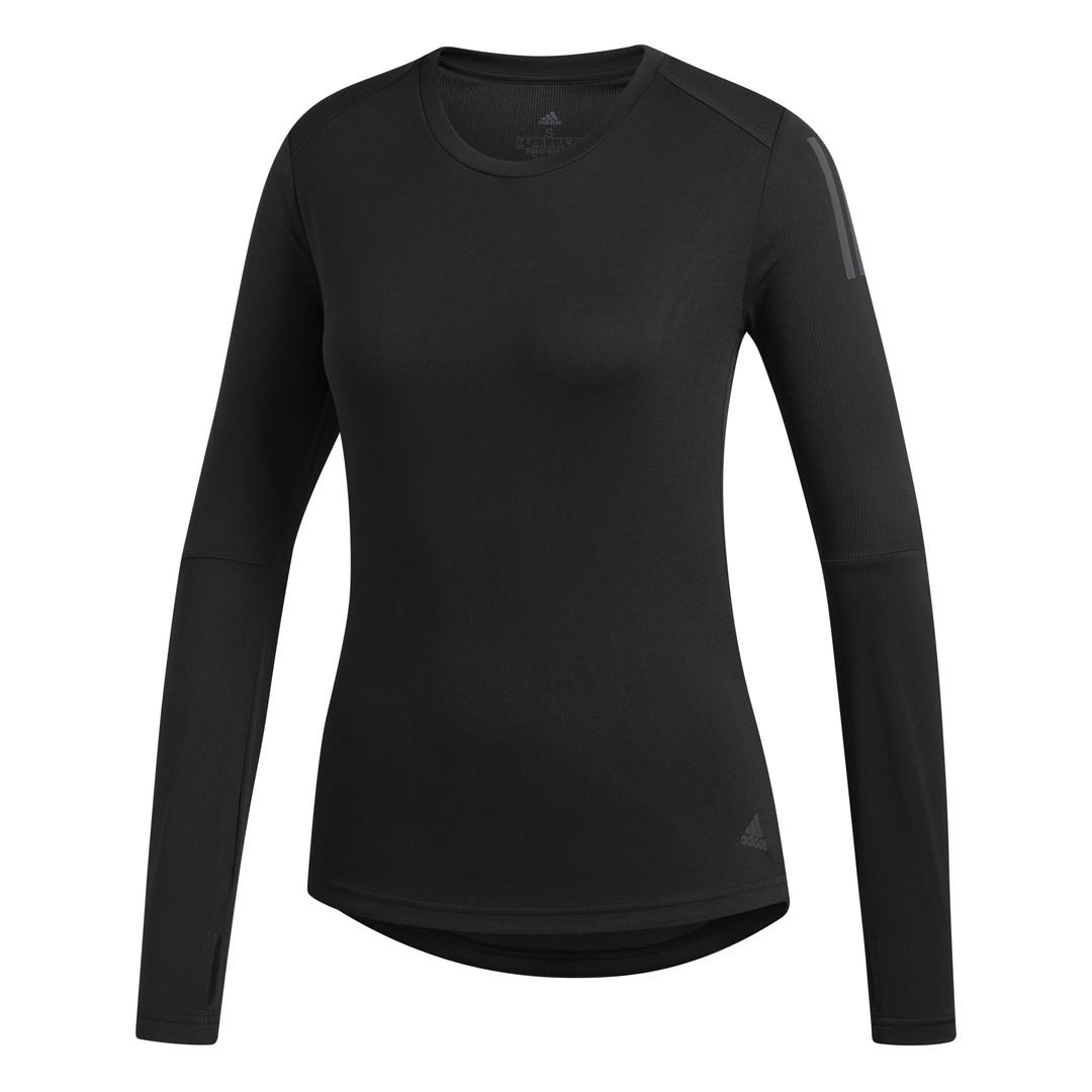 adidas OWN THE RUN LS, ženska majica za trčanje, crna