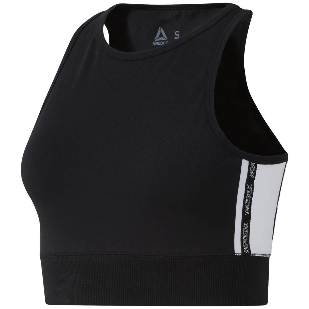 Reebok WOR MYT CROP, ženski sportski top, crna