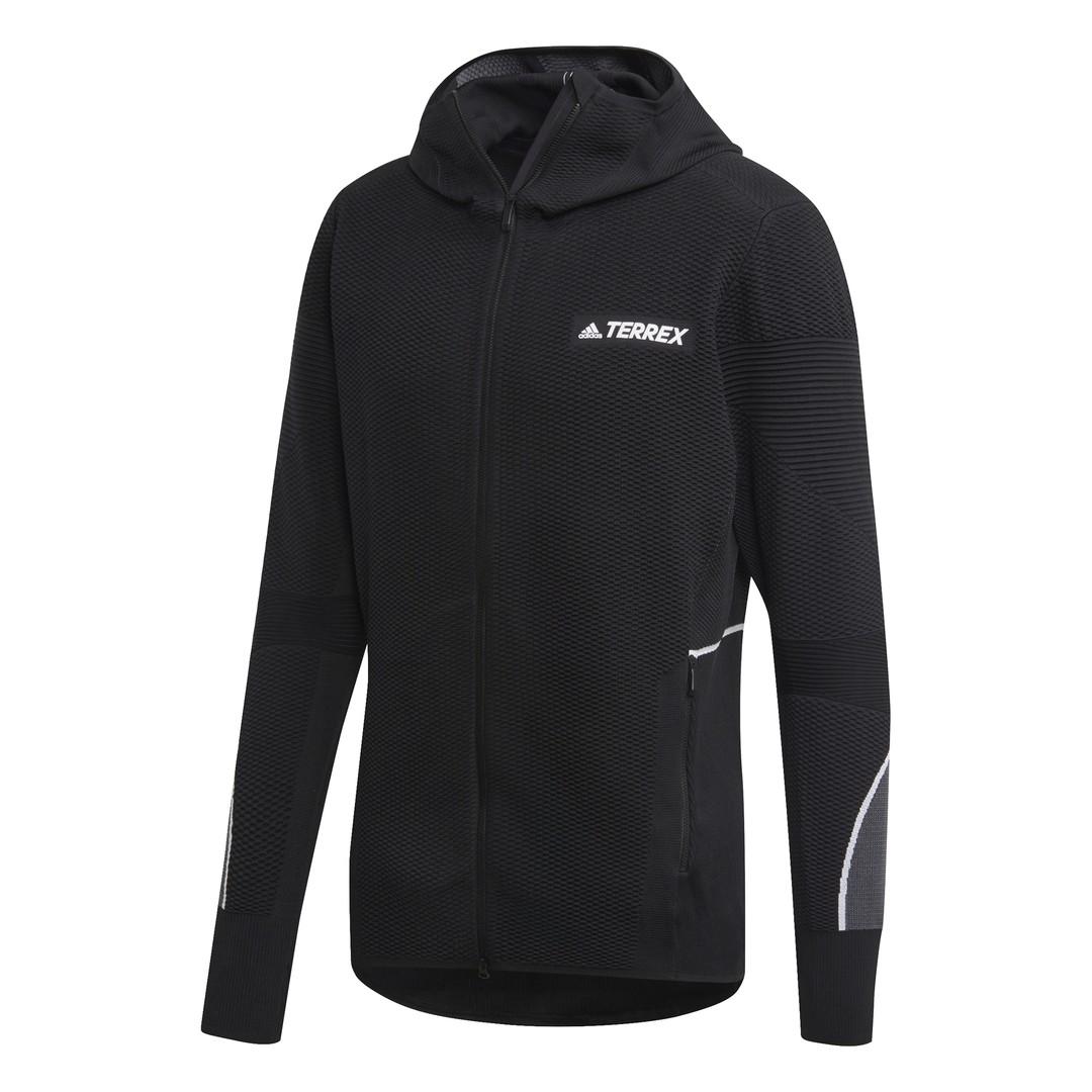 adidas PKNIT MIDLAYER, muška jakna za planinarenje, crna