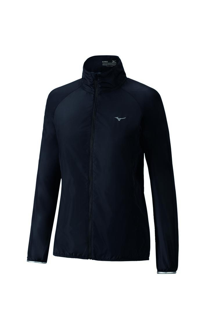 Mizuno IMPULSE IMPERMALITE JACKET, ženska jakna za trčanje, crna