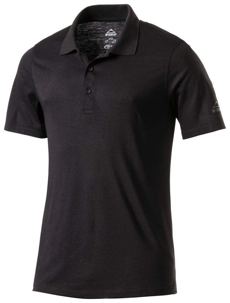 McKinley PELLEW UX, muška polo majica za planinarenje, crna