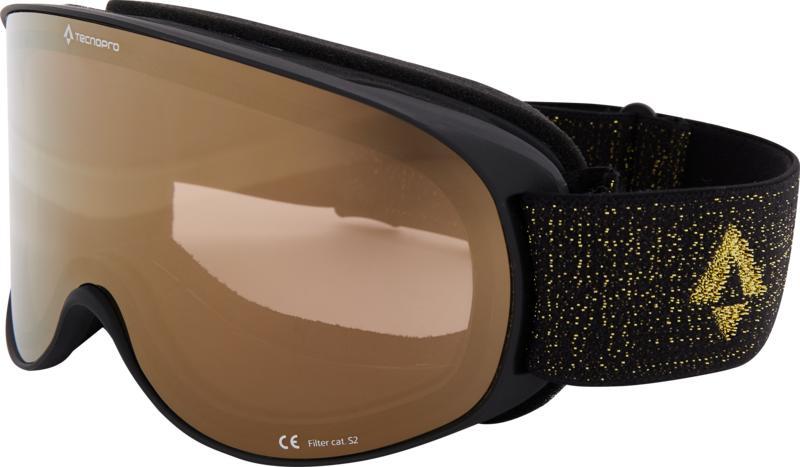 Tecnopro SAFINE M MIRROR, ženske skijaške naočale, crna